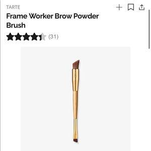 3 NEW brushes: Tarte eyebrow powder, 2 eyeshadow